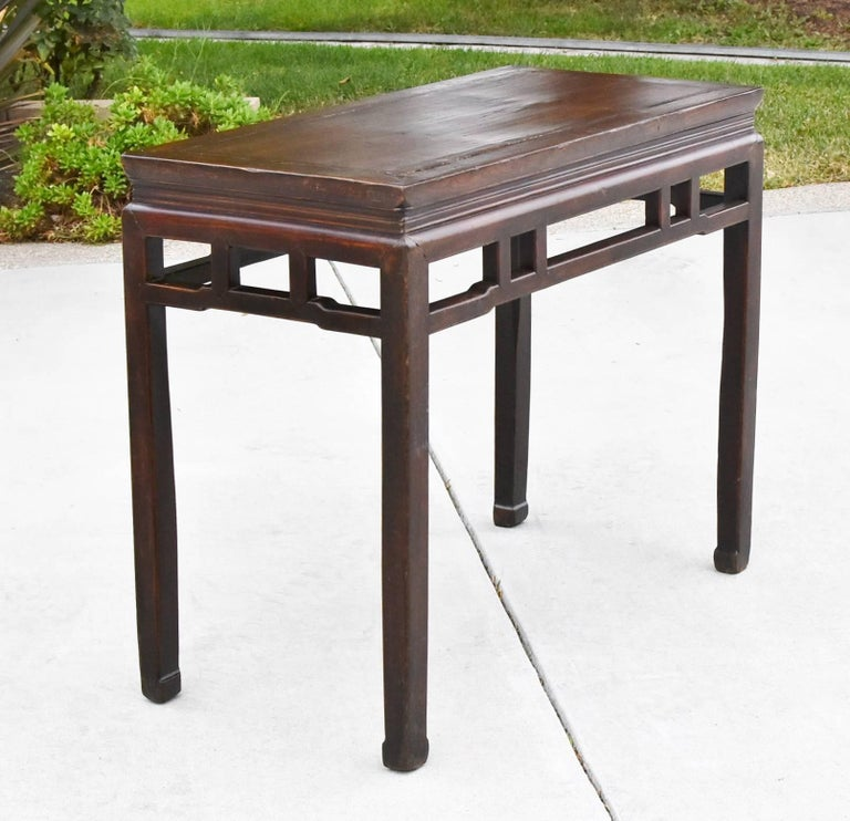 Joinery Chinese Antique Side Table, Ming Style, Double Sided For Sale