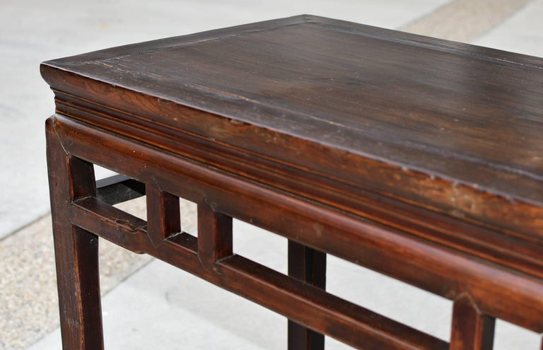 19th Century Chinese Antique Side Table, Ming Style, Double Sided For Sale