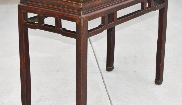 Chinese Antique Side Table, Ming Style, Double Sided For Sale 4