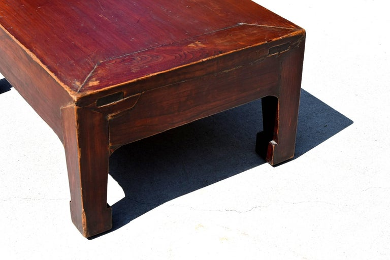 Wood Antique Low Table For Sale
