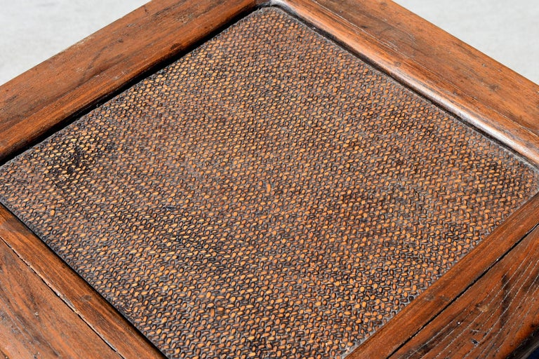 Antique Rattan Top Stool Low Table For Sale 2
