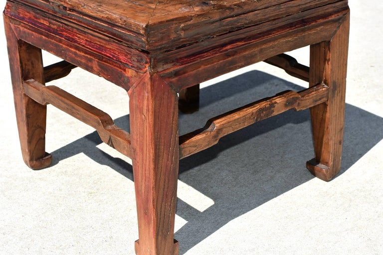 Swell Square Antique Country Stool With Hoof Legs At 1Stdibs Caraccident5 Cool Chair Designs And Ideas Caraccident5Info