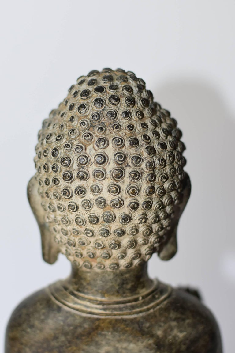 20th Century Bronze Standing Buddha Statue For Sale