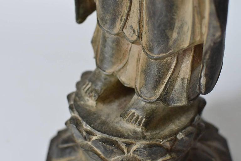 Bronze Standing Buddha Statue For Sale 3