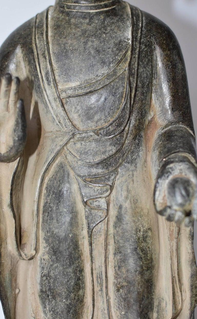 Bronze Standing Buddha Statue For Sale 2