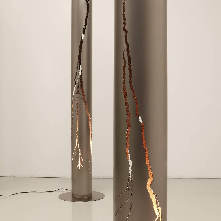 Bronzed Gianluca Pacchioni, Cut II Sculptural Lighting, 2014 For Sale