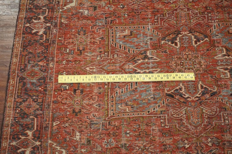 Antique Persian Heriz Serapi Rug Circa 1940 For Sale At