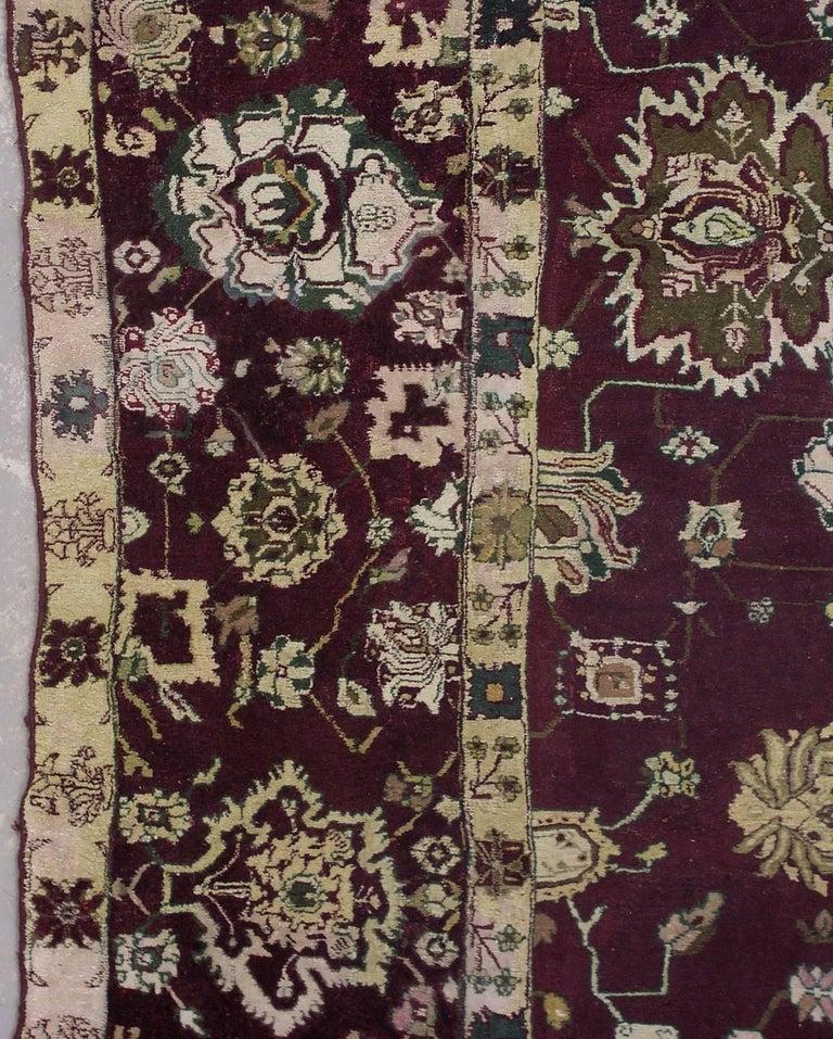 Deep Burgundy Indian Agra Rug For Sale At 1stdibs: Antique Indian Agra Rug, Circa 1880 For Sale At 1stdibs