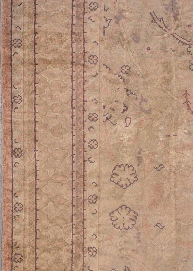 Polonaise antique oriental rugs - Peach Antique Polonaise European Rug Circa 1920 3