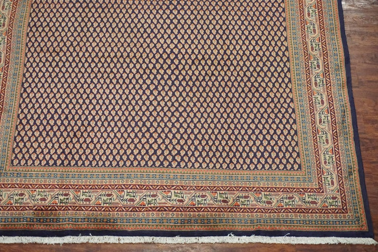 Persian Sarouk Paisley Saraband Rug Circa 1970 For Sale
