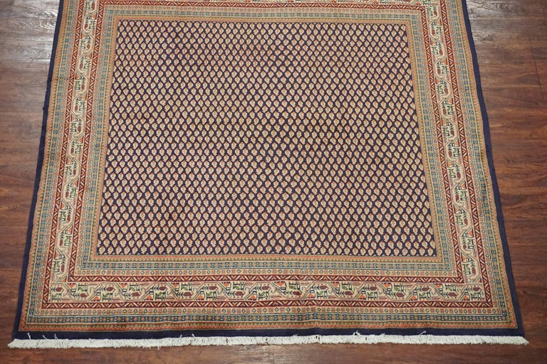 Persian Sarouk Paisley Saraband Rug Circa 1970 For Sale