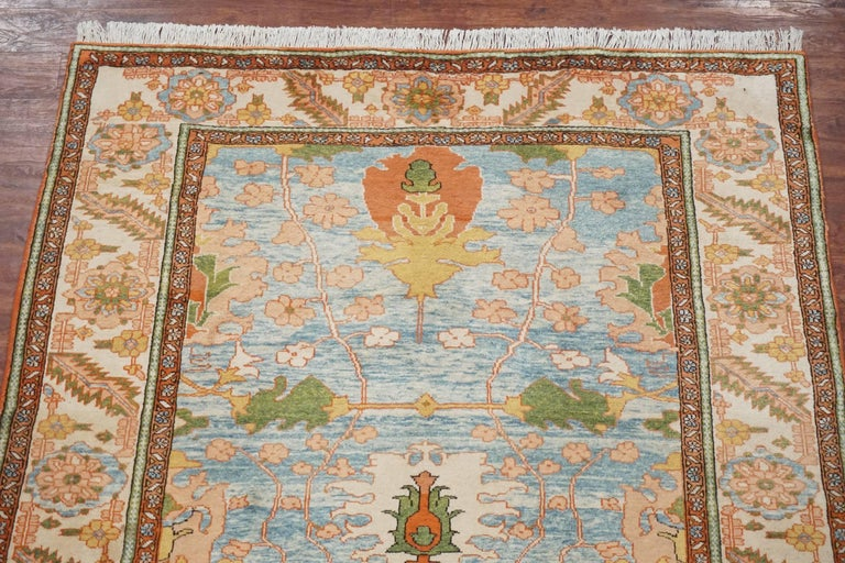 Square Vegetable Dyed Sultanabad Rug Circa 1990 For Sale