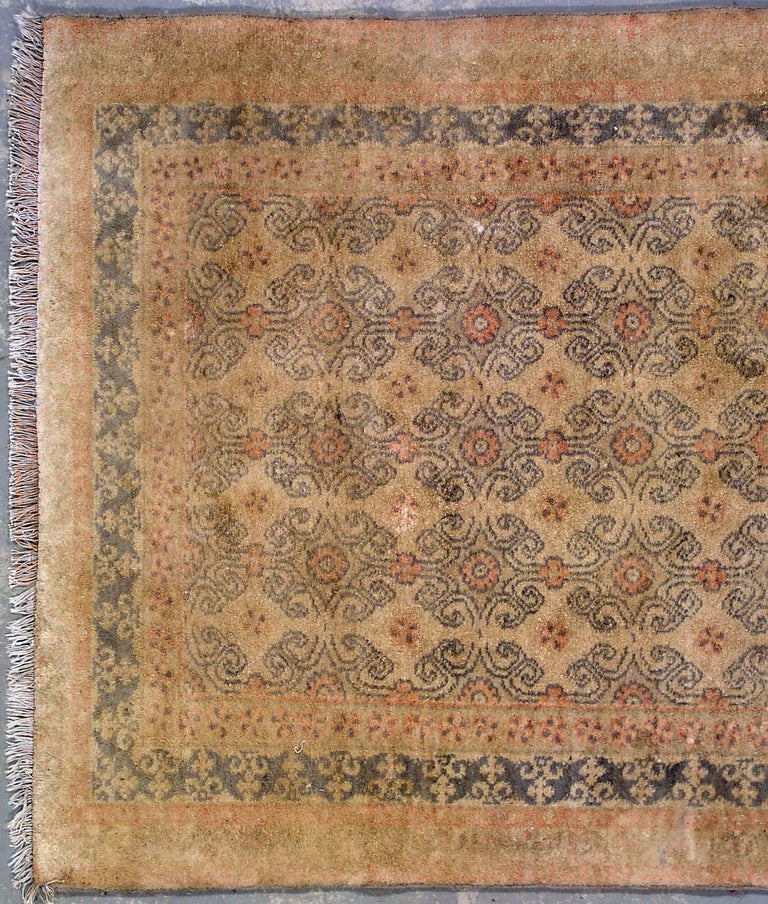 Antique Cotton Agra Rug With Abrash Circa 1900 For Sale: Antique 1920s Cotton Agra Rug For Sale At 1stdibs