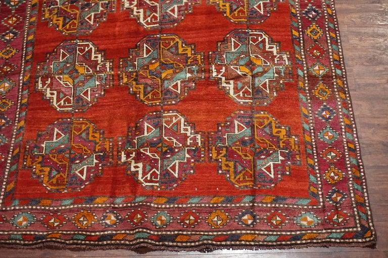 Tribal Persian Turkoman Area Rug Circa 1900 For Sale At