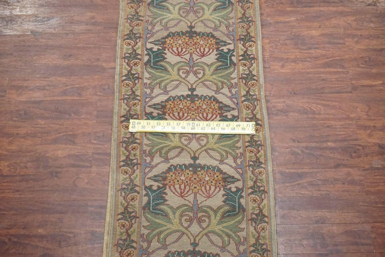 william morris hand knotted arts and crafts runner for