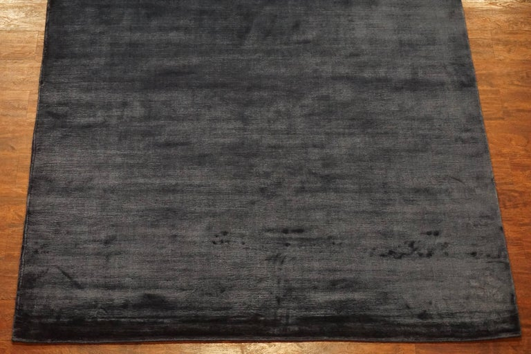 Solid Contemporary Bamboo Silk Area Rug For Sale At 1stdibs