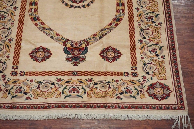 Beige Persian Tabriz Area Rug Circa 1970 For Sale At 1stdibs
