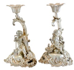 Victorian Sterling Silver Candlesticks by Stephen Smith, London, 1882