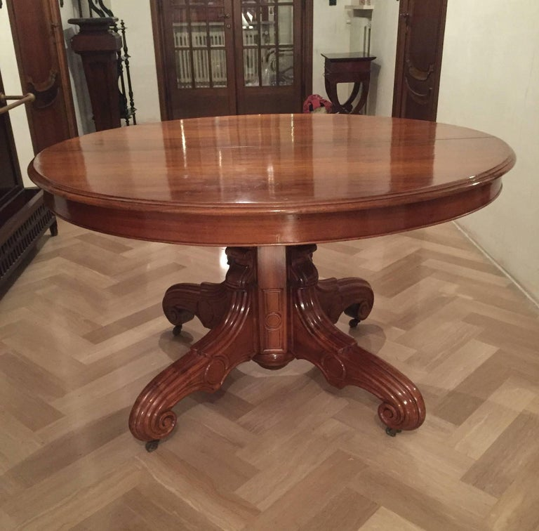 french dining table louis philippe 1850s for sale at 1stdibs. Black Bedroom Furniture Sets. Home Design Ideas