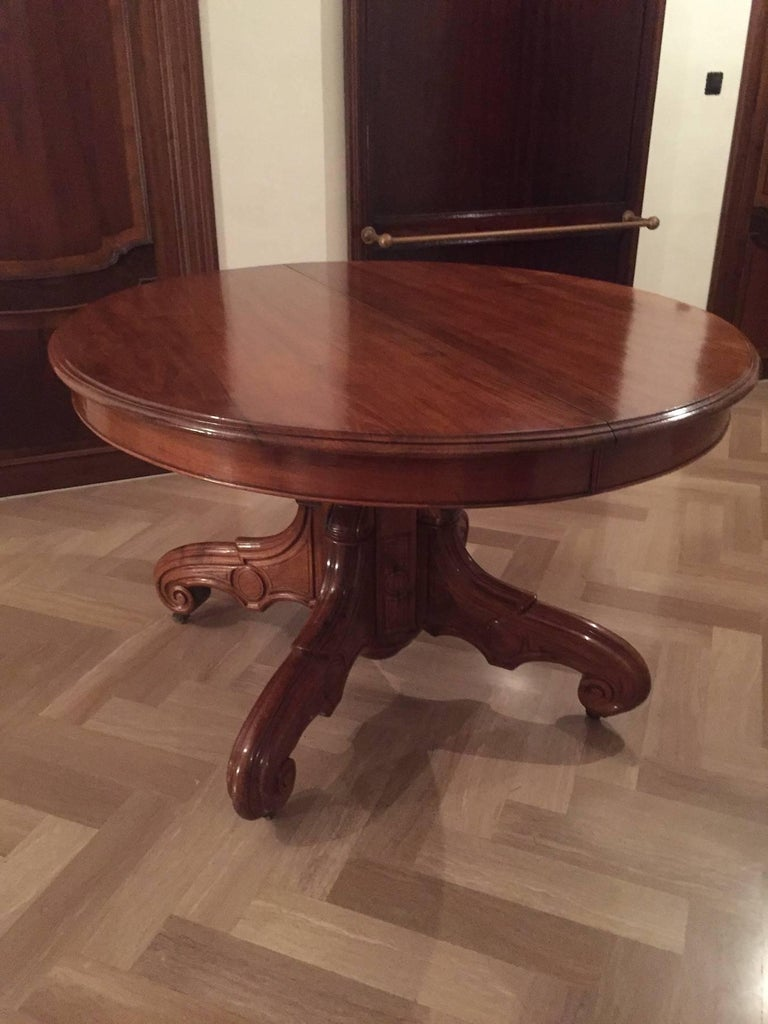 French dining table louis philippe 1850s for sale at 1stdibs for Table 6 pieds louis philippe