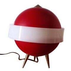 Mid-Century Modern Italian red Table Lamp by Angelo Brotto for Esperia, 1950s