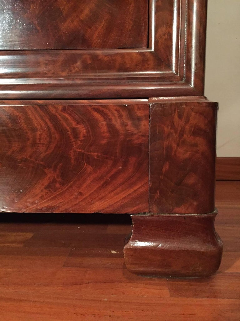 antique walnut louis philippe secretaire drawer commode for sale at 1stdibs