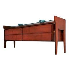 Mid-Century Modern Teak Wood Dresser Sideboard by La Permanente Di Cantù, 1950s