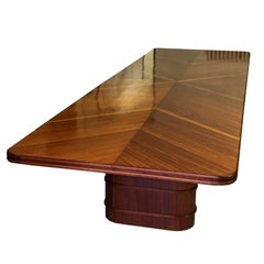 Italian Mid-Century Mahogany Conference or Dining Table, 1950s