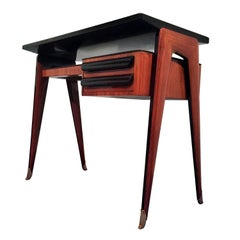 Mid-Century Italian Rosewood small Desk by Vittorio Dassi, 1950s