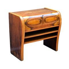 Italian Art Deco Cabinet Gio Ponty Style Walnut and Beechwood, 1950s