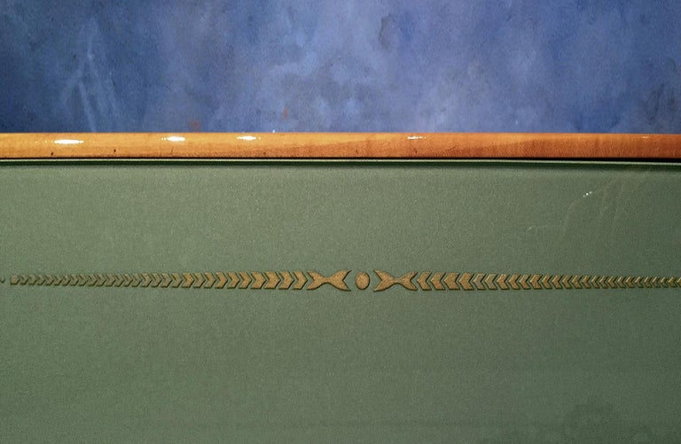 Italian Mid-Century Parchment Sideboard by Giovanni Gariboldi, 1940s For Sale 7