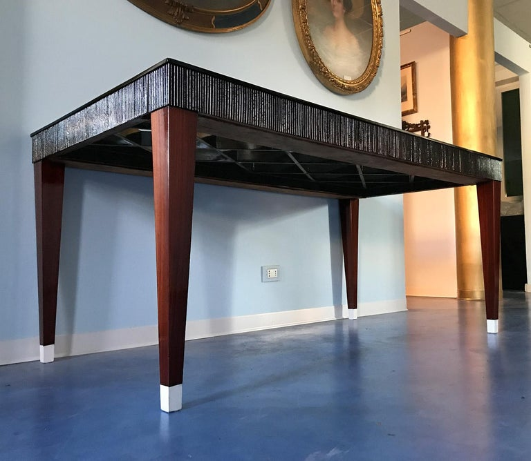 Mid-Century Modern Italian Mid-Century Rosewood Dining Table attributed to Paolo Buffa, 1950s For Sale