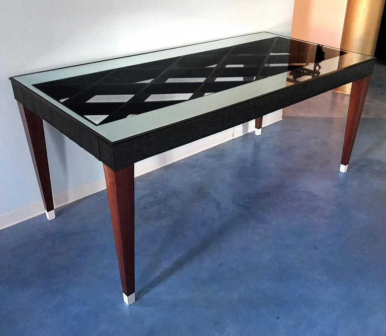 Mid-20th Century Italian Mid-Century Rosewood Dining Table attributed to Paolo Buffa, 1950s For Sale