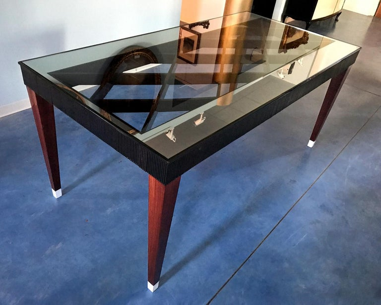 Italian Mid-Century Rosewood Dining Table attributed to Paolo Buffa, 1950s For Sale 5