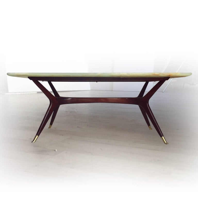 Brass Italian Mid-Century Coffee Table attributed to Ico Parisi, 1950s For Sale