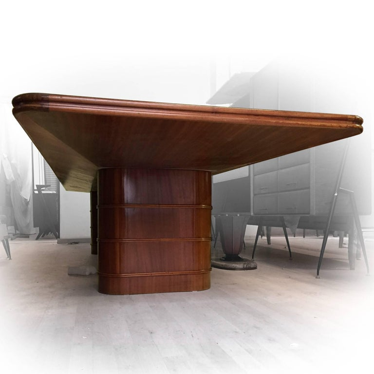 Italian MidCentury Mahogany Conference Or Dining Table S For - Mid century conference table