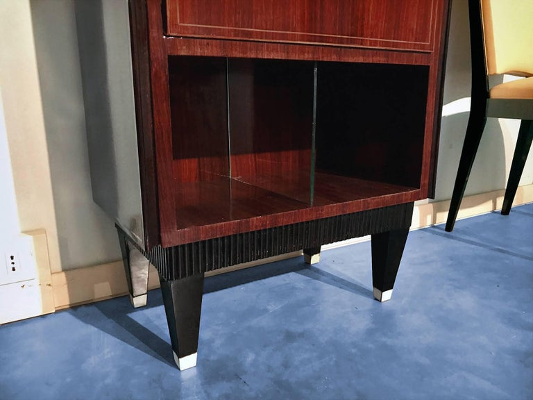 Italian Midcentury Rosewood Secretaire attributed to Paolo Buffa, 1950s For Sale 5