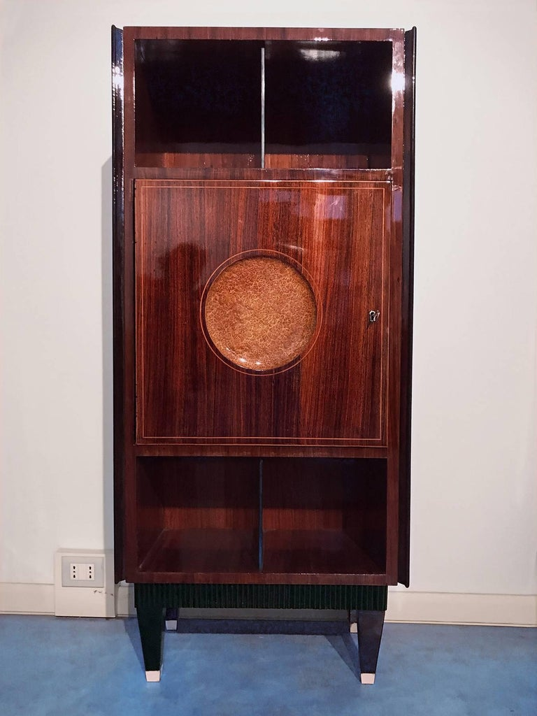 Mid-20th Century Italian Midcentury Rosewood Secretaire attributed to Paolo Buffa, 1950s For Sale