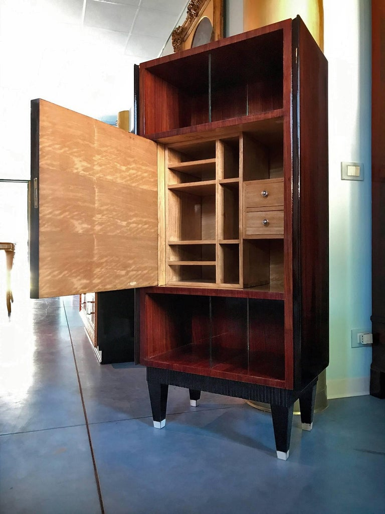 Mid-Century Modern Italian Midcentury Rosewood Secretaire attributed to Paolo Buffa, 1950s For Sale