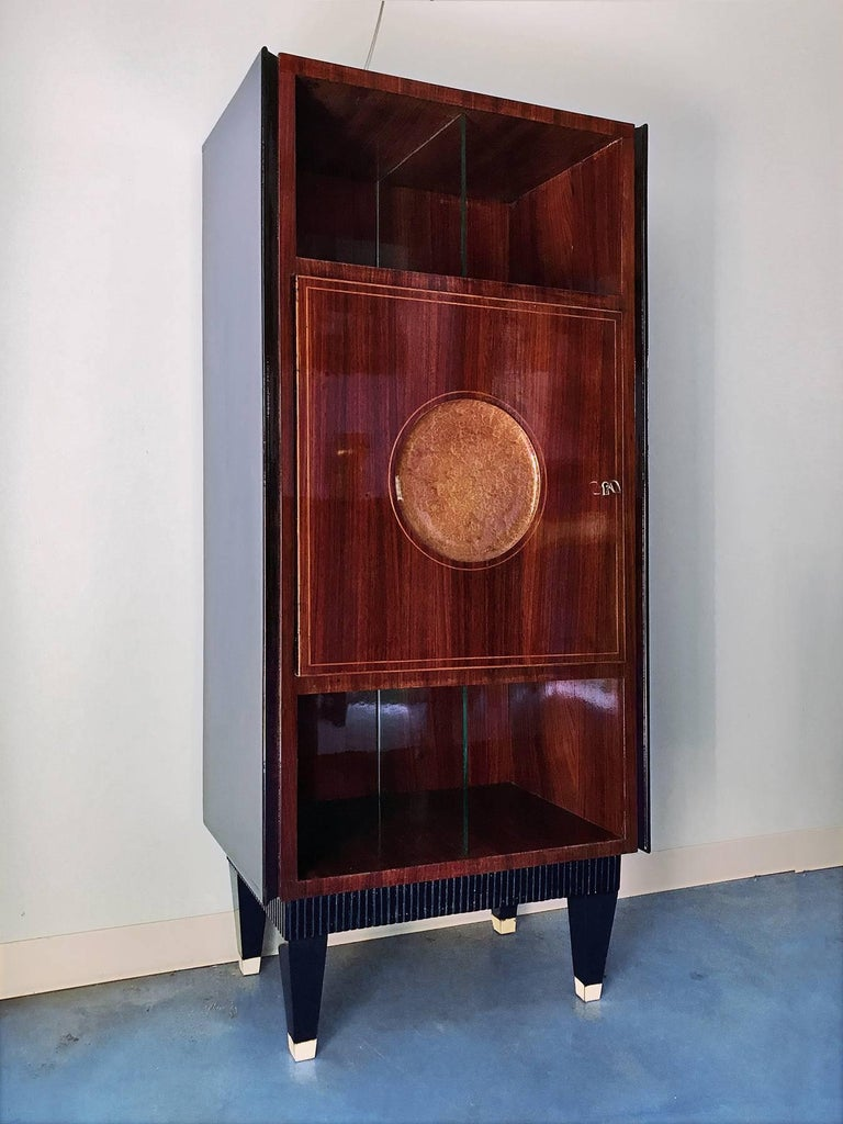 Italian Midcentury Rosewood Secretaire attributed to Paolo Buffa, 1950s For Sale 3