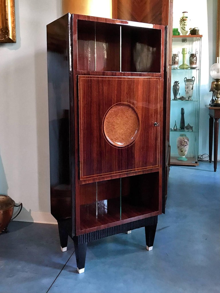 Italian Midcentury Rosewood Secretaire attributed to Paolo Buffa, 1950s For Sale 1