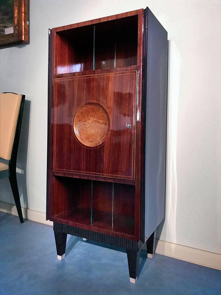This so amazing cabinet with Secretaire is forming part of a dining room suite very rare, attributed to Paolo Buffa design of the 1950s, that's includes other items such as: the dining Table with 6 Chairs (here on sale in other 2 listings), the