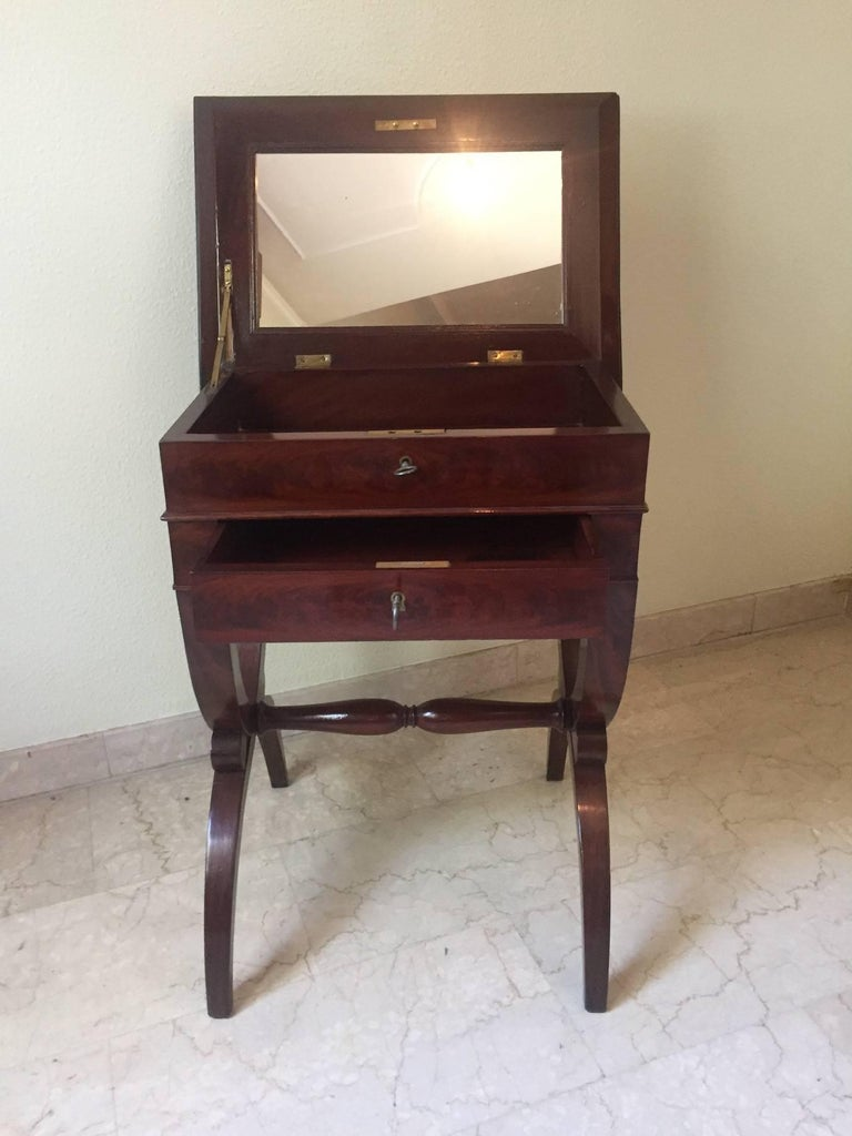 French Mahogany Work Table, 1830 For Sale 2