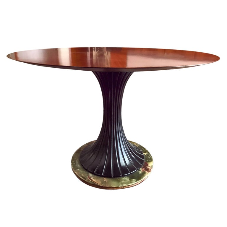 Mid-Century Modern Italian Rosewood Dining Table by Dassi, 1950s