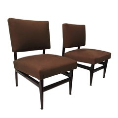 Italian Mahogany Lounge Chairs by Vittorio Dassi with Palutari, 1950s, Set of 2