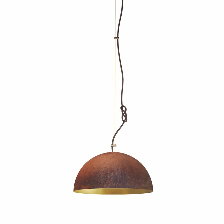 Queen Pendant Small-Ceiling Lamp-Made from Corroding Steel