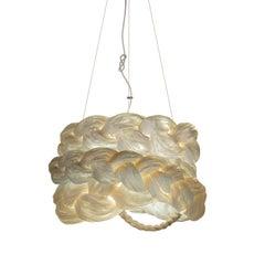 Bride Pendant Medium White-Ceiling Lamp Created from Paper
