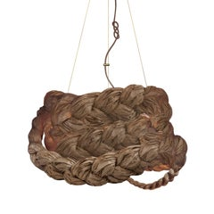 Bride Pendant Large Brown-Ceiling Lamp Created from Paper