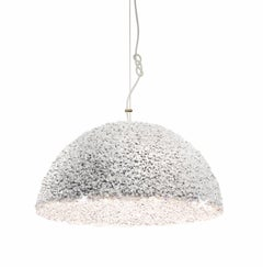 Duchess Pendant Medium White-Ceiling Lamp Swarovski Crystal