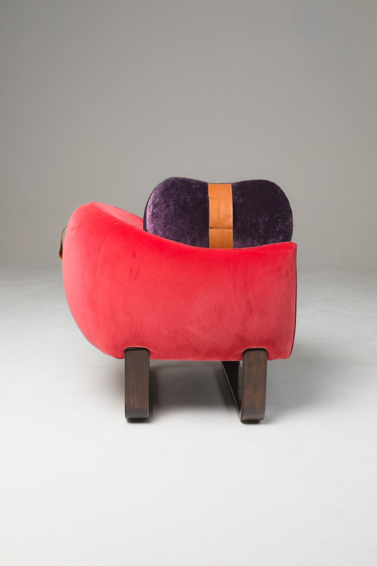 Hand-Crafted Milo Armchair For Sale
